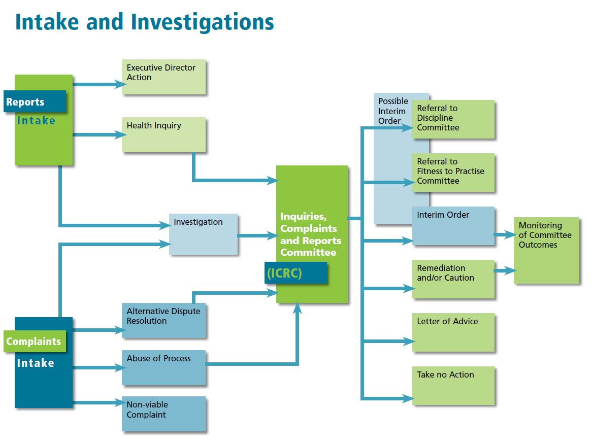 Intake and Investigations Flow Chart