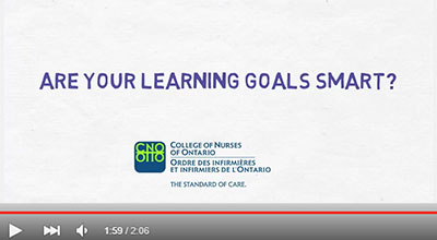 Watch this video and use the guide to help you write SMART learning goals for your Learning Plan.